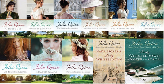 Kit 11 Livros Os Bridgertons Julia Quinn + Lady Whistledown
