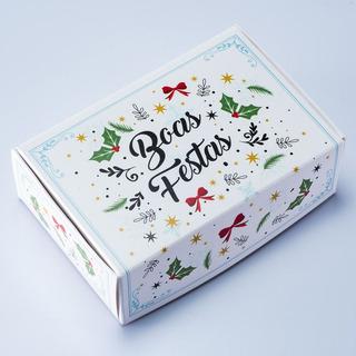 Caixa Para 6 Doces Natal - Boas Festas C/10 Un