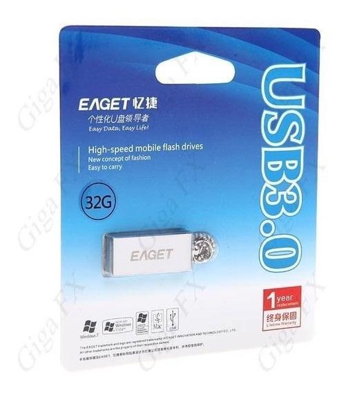Pen Drive Eaget U80 Usb 3.0 32gb Metal Waterproof - S Veloz