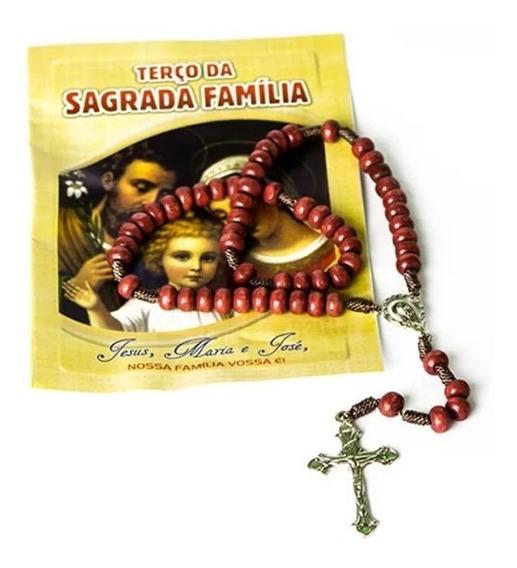 6 Un Terço Com Folheto Da Sagrada Família