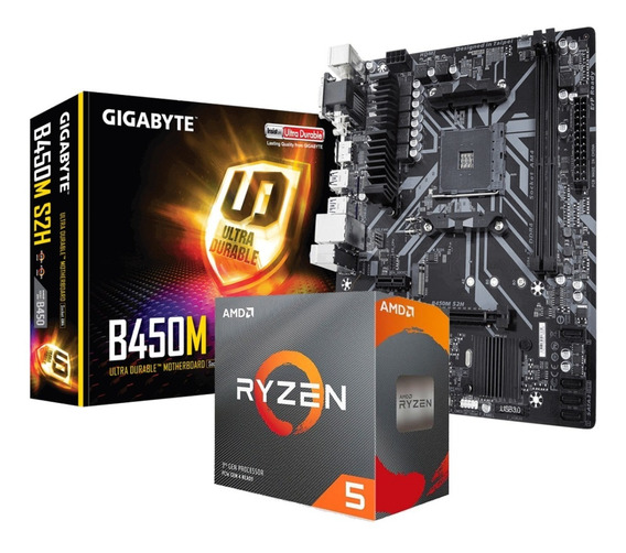 Combo Amd Ryzen 5 3600 + Motherboard Gigabyte B450m S2h