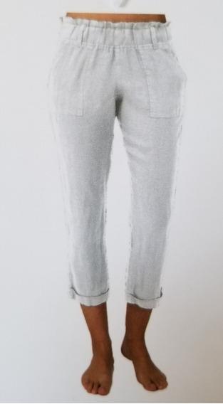 Pantalón De Lino Para Dama Allen Allen