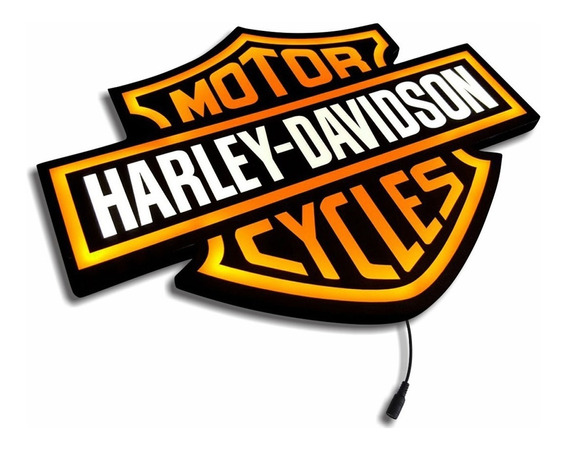 Harley Davidson Luminoso Led Placa 45cm Bar