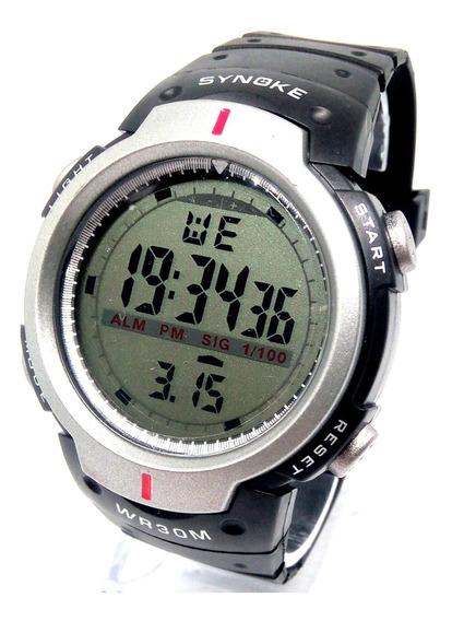 Relógio Digital Synoke 3atm Unissex