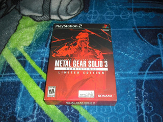 Metal Gear Solid 3 Snake Eater Limited Edition Para Ps2