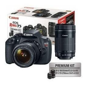 Câmera Canon T5 + Flash + Carregador E Pilhas.