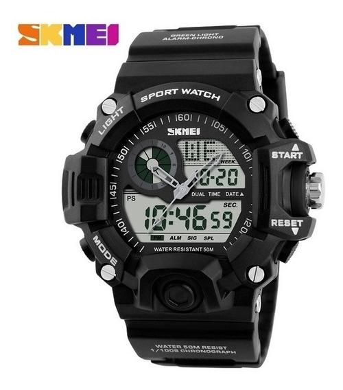 Relógio Masculino Skmei Shock Militar Frete Grátis Até 12x