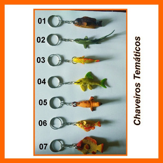 Chaveiro Temático Peixes - Lançamento Kit C/ 3 Unidades Off