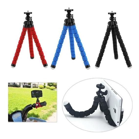 Mini Tripé Flexível Esponjado Para Cameras E Celulares.