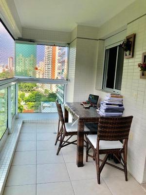 Apartamento Em José Menino, Santos/sp De 77m² 2 Quartos À Venda Por R$ 595.000,00para Locação R$ 2.800,00/mes - Ap135878lr