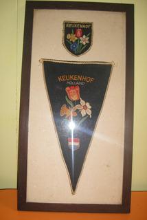 Vanderin Y Escudo Hollan Keukenhof ( Holandes) 34 X 18 Cm