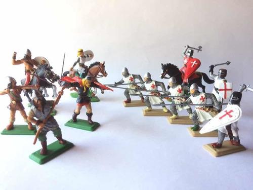 Soldados Medievales Y Vikingos 1 Soldaditos De Plástico