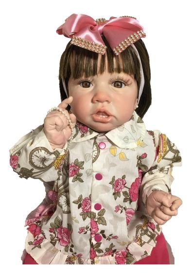 Bebê Reborn Saskia Corpo De Vinil Com Dentinhos!!!!