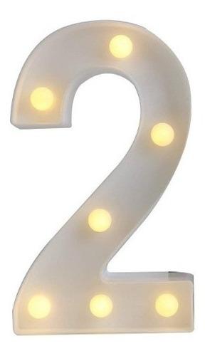 Numeros Luces Led Light Decoración Fiestas, Cumpleaños