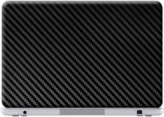 Skin Adesivo Para Notebook 10 A 17pol Fibra Carbono Preto