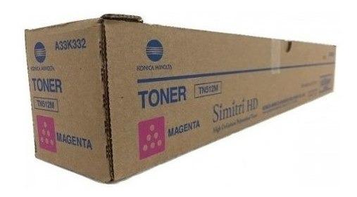 Toner Konica Bizhub C454-c554 Magenta A33k332 Tn-512m 26k