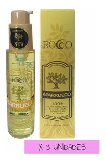 3 X Aceite De Argan Rocco 100ml Cuidado Cabello Capilar