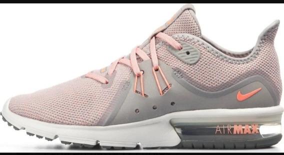 Zapatillas Nike Air Max Sequent 3 Mujer Running Rosadas