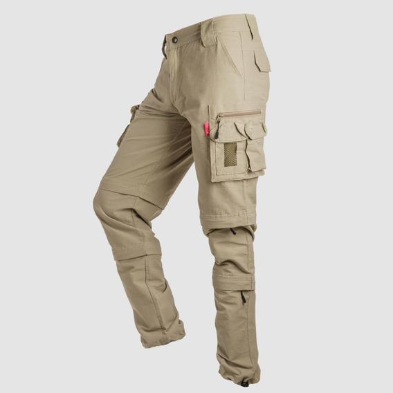 Pantalon Dama Duo Desmontable Microfibra Sec Rapido Ardilla