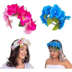 Coroa Tiara Headband Flores Para Fotos Noiva E Gestante Luxo
