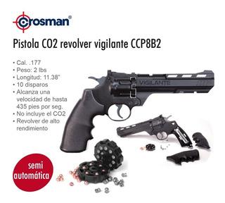 Pistola Co2 Crosman Ccp8b2 Revolver Diabolo Municion Cal.4.5