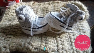 Zapatitos Bebe Crochet