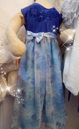 Vestidos Princesa Hada Azul Para Niña De Lux. Calidad Premiu