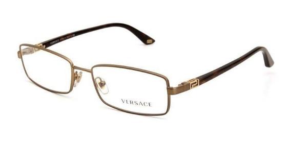 Óculos De Grau Feminino Versace Metal Dourado