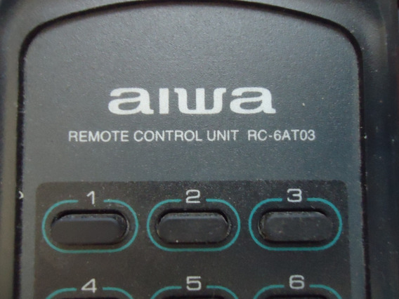 Controle Remoto Aiwa Unit Rc 6at03