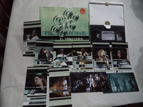 Timbiriche En Concierto Formato Vhs Con 12 Postales A Color