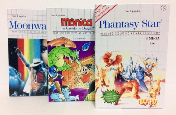 Mini Caixas Para Jogos De Master System