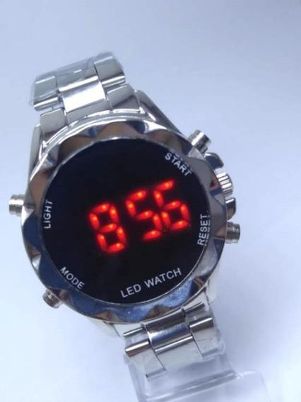 Relógio De Pulso Feminino Digital De Led Com Caixa