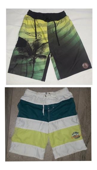 Set X 2 Shorts De Baño Mallas Cheeky Varon Talle 12