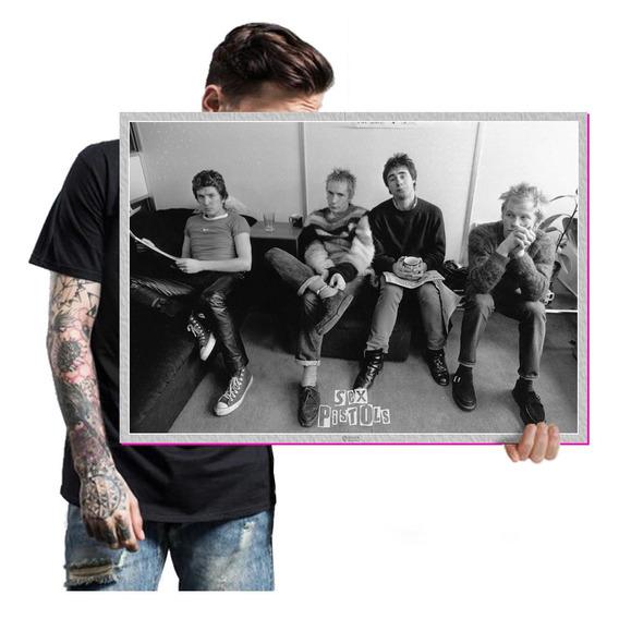 Presente Poster De Rock Banda Sex Pistols T. A2 60x42cm 06