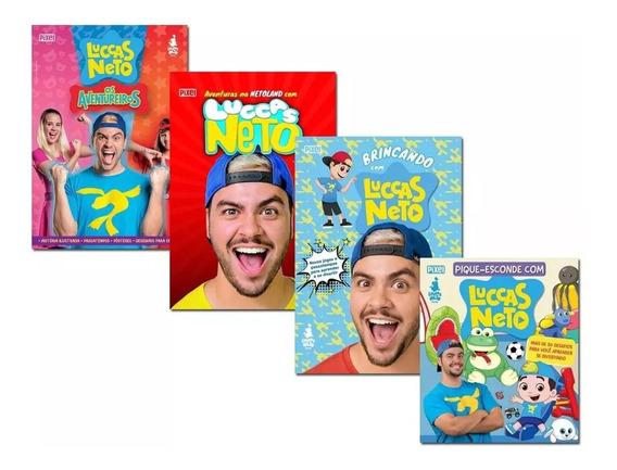 Promoção Coleção 4 Livros Luccas Neto - Brincando / Aventure