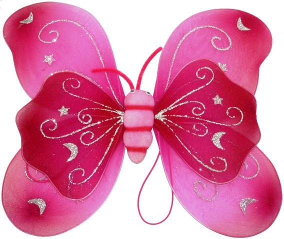 Alitas Accesorios Disfraz De Mariposa Niña Alas Doble Barita