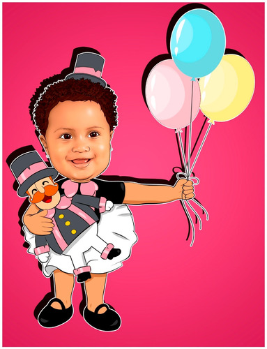 Caricatura Digital Personalizada Para Seus Filhos