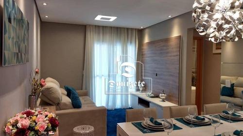 Apartamento Com 2 Dormitórios À Venda, 64 M² Por R$ 480.825,57 - Campestre - Santo André/sp - Ap12376