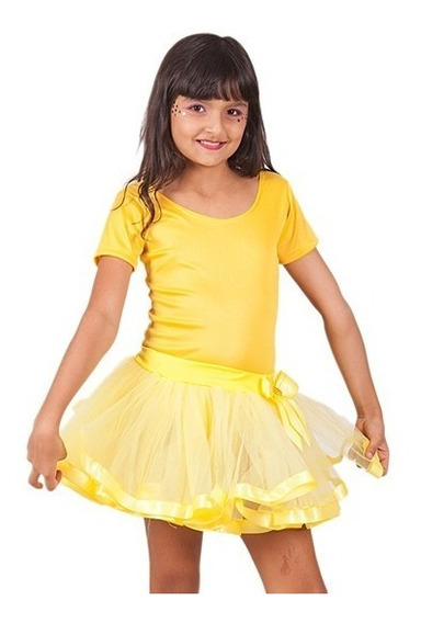 Saia Infantil Bloquinho Carnaval Tule Fita Ballet Bailarina