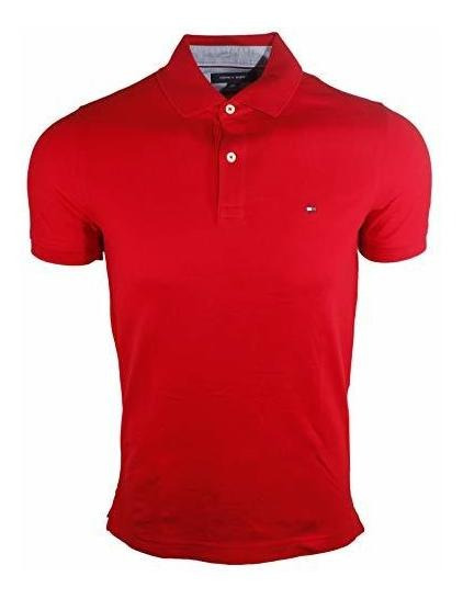 Tommy Hilfiger NEW Custom Fit Men/'s Solid Short Sleeve Pique Polo Shirt