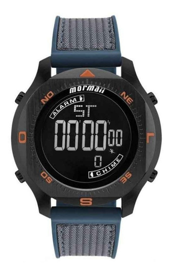 Relógio Mormaii Mo11273e/8p Mo11273e Mo11273 Preto E Laranja