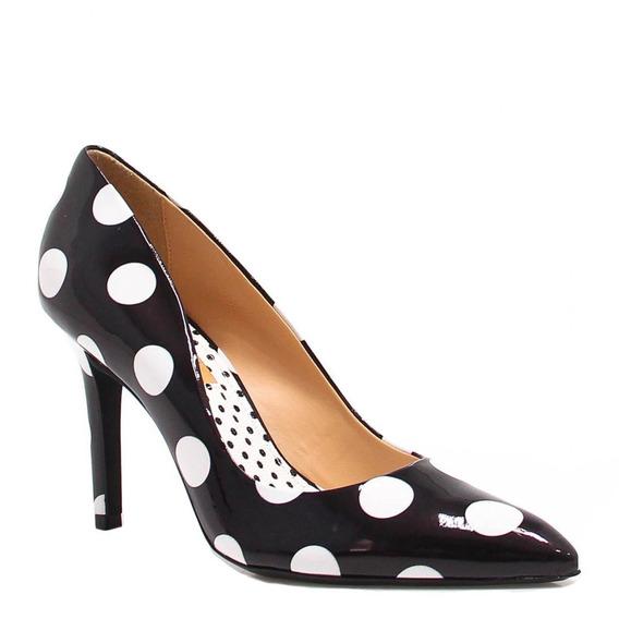 Sapato Feminino Zariff Shoes Scarpin Verniz Branco 388001