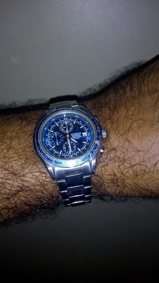Relógio Casio (com Defeito) Edifice Cronógrafo 100% Inox
