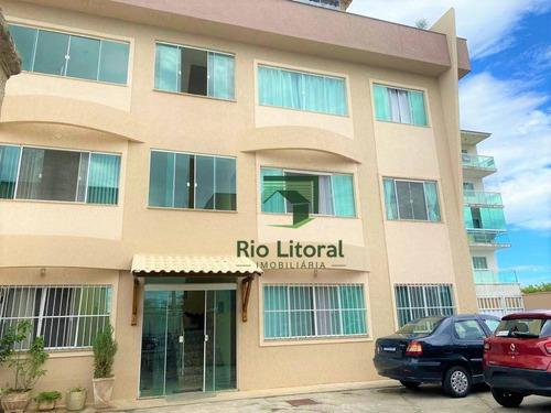 Apartamento Com 2 Dormitórios À Venda, 65 M² Por R$ 220.000,00 - Atlântica - Rio Das Ostras/rj - Ap0580