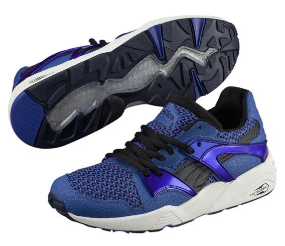 Tênis Puma Fundamentals Blaze Knit - Azul/roxo -38