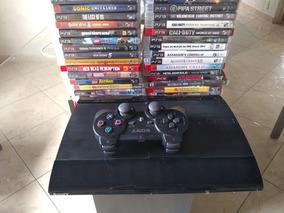 Playstation 3 + Controle ,hd, E 3 Jogos A Escolha