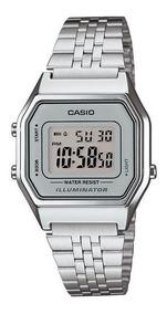 Relógio Unissex Vintage La680wa-7df Prata Digital - Casio