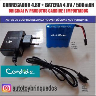 Bateria 4.8v 500mah + Carregador 4.8v (mini Plug)