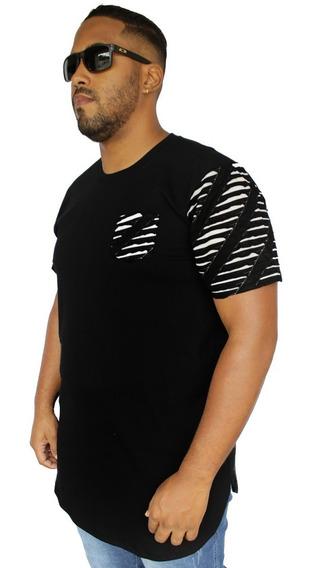 Camiseta Oversized Plus Size Longline Swag Camisa Masculina