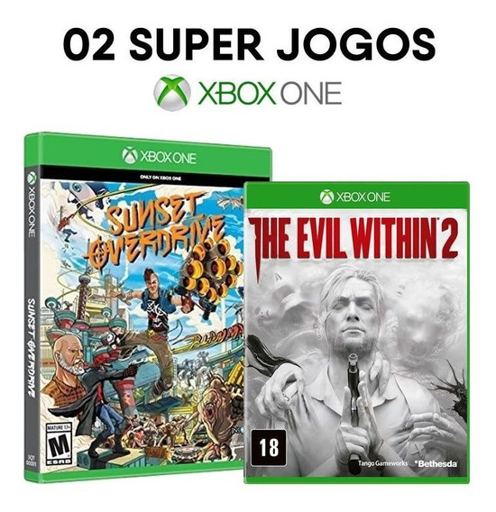 Sunset Overdrive + The Evil Within 2 - Xbox One [ Novos ]